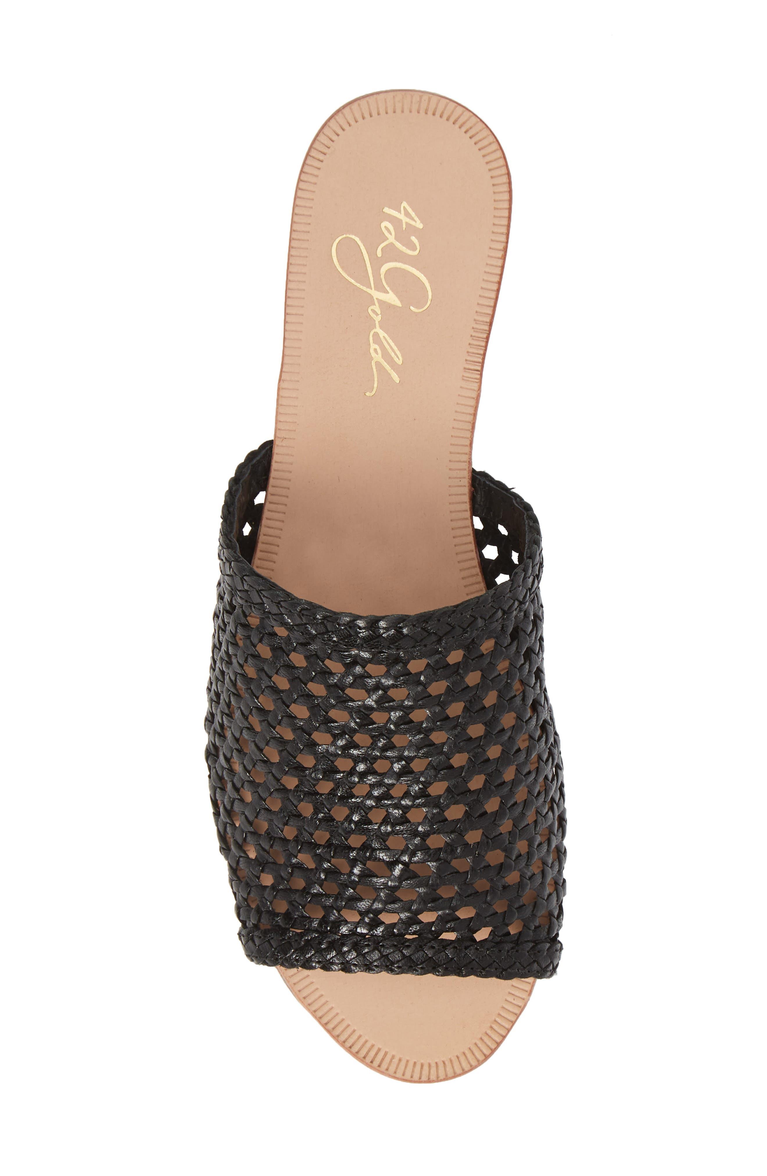 ,                             Begonia Slide Sandal (Women0,                             Alternate thumbnail 5, color,                             BLACK LEATHER