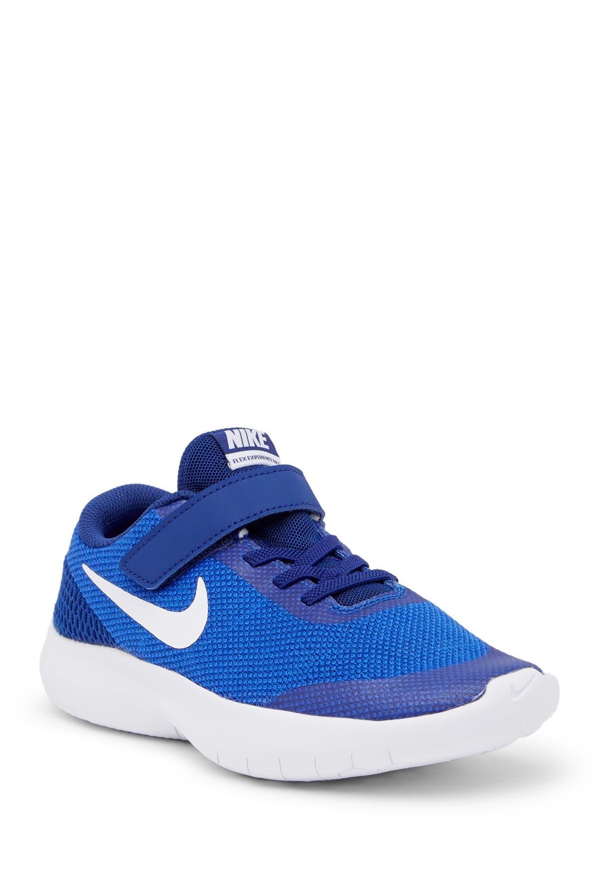 Nike Flex Experience RN 7 Sneaker boys big kids HYPRYL//WHITE Blue sz 4.5 new