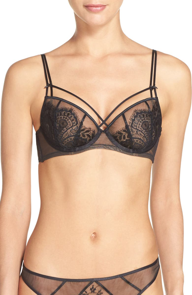 DITA VON TEESE Underwire Bra, Main, color, BLACK