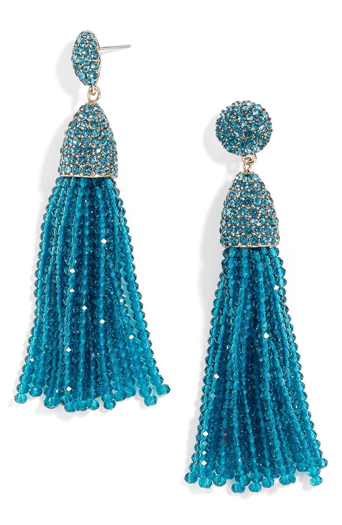 ,                             'Nynette' Tassel Drop Earrings,                             Main thumbnail 7, color,                             310