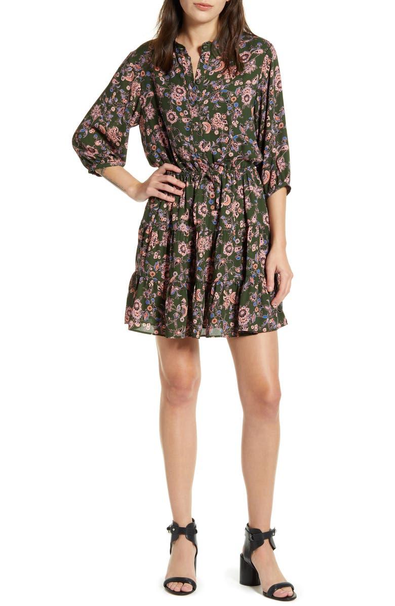 REBECCA MINKOFF Ollie Drawstring Waist Dress, Main, color, 362