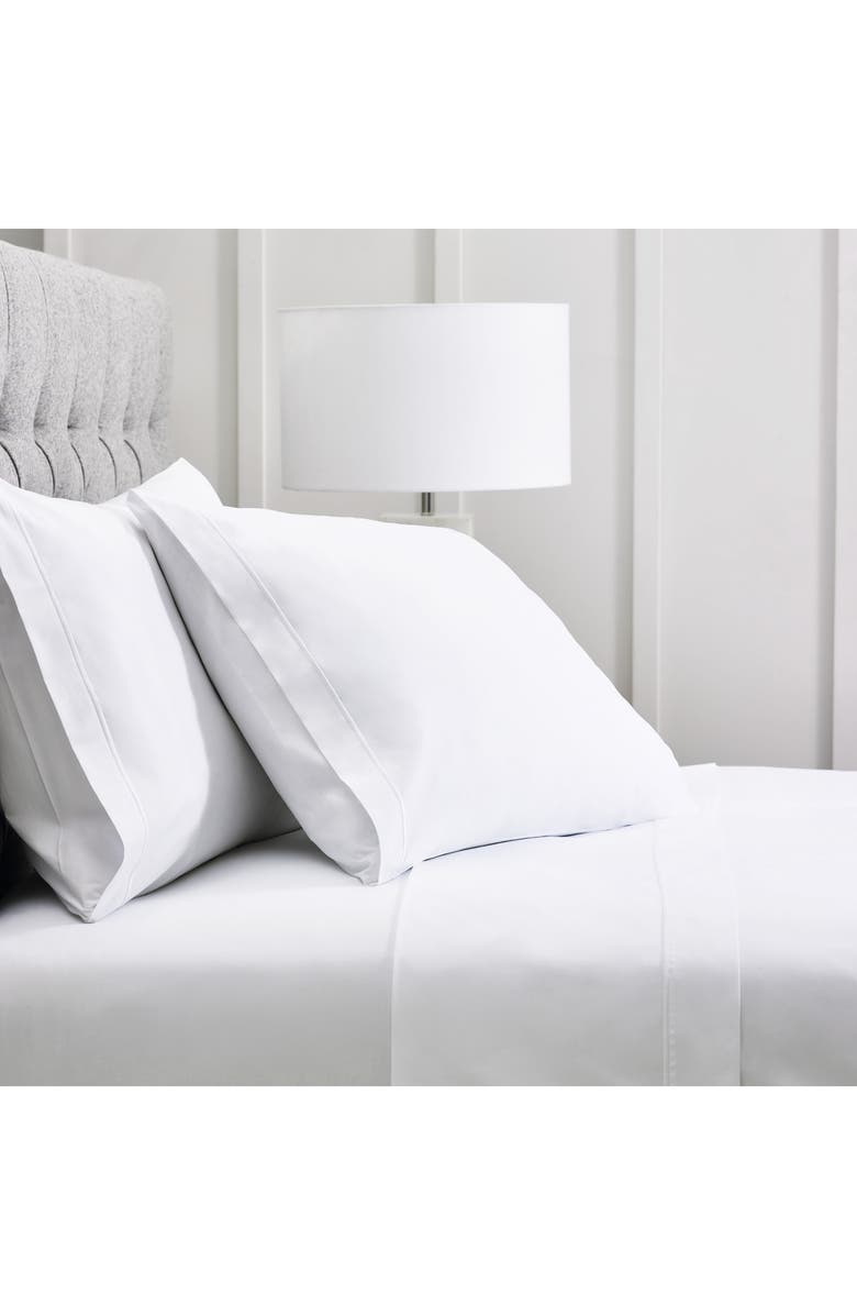 THE WHITE COMPANY Savoy Flat 400 Thread Count Sheet Set, Main, color, WHITE