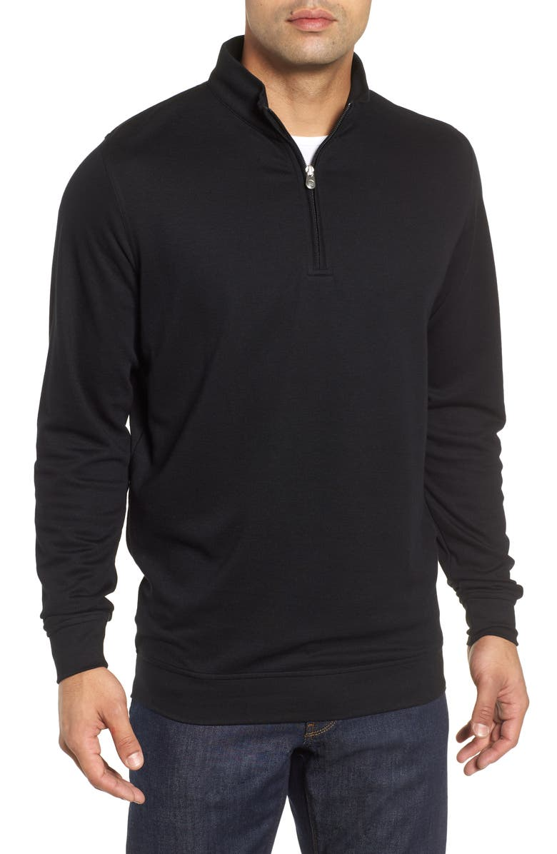 PETER MILLAR Comfort Interlock Quarter Zip Pullover, Main, color, 001