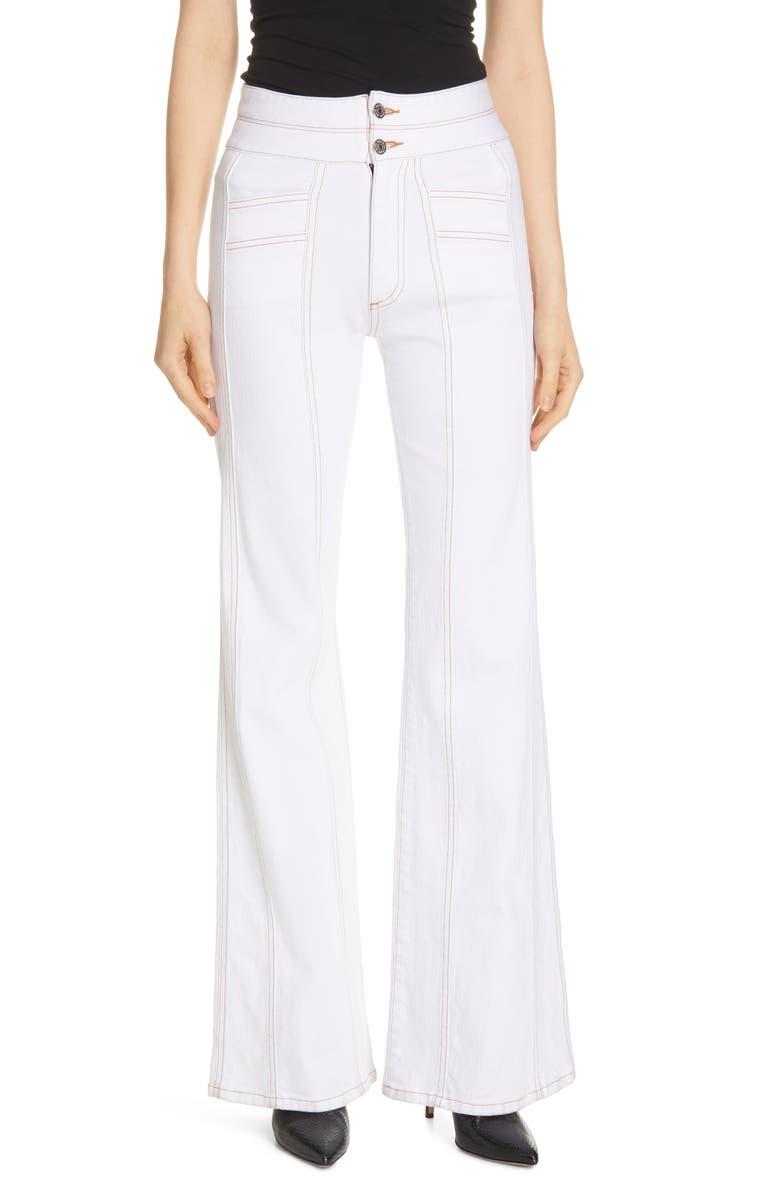 VERONICA BEARD Farrah Wide Leg Jeans, Main, color, 113