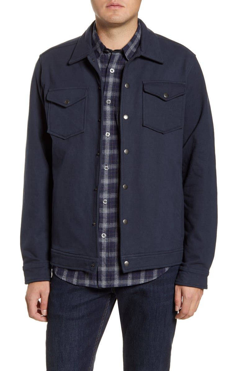 COASTAORO Dean Trucker Jacket, Main, color, NAVY