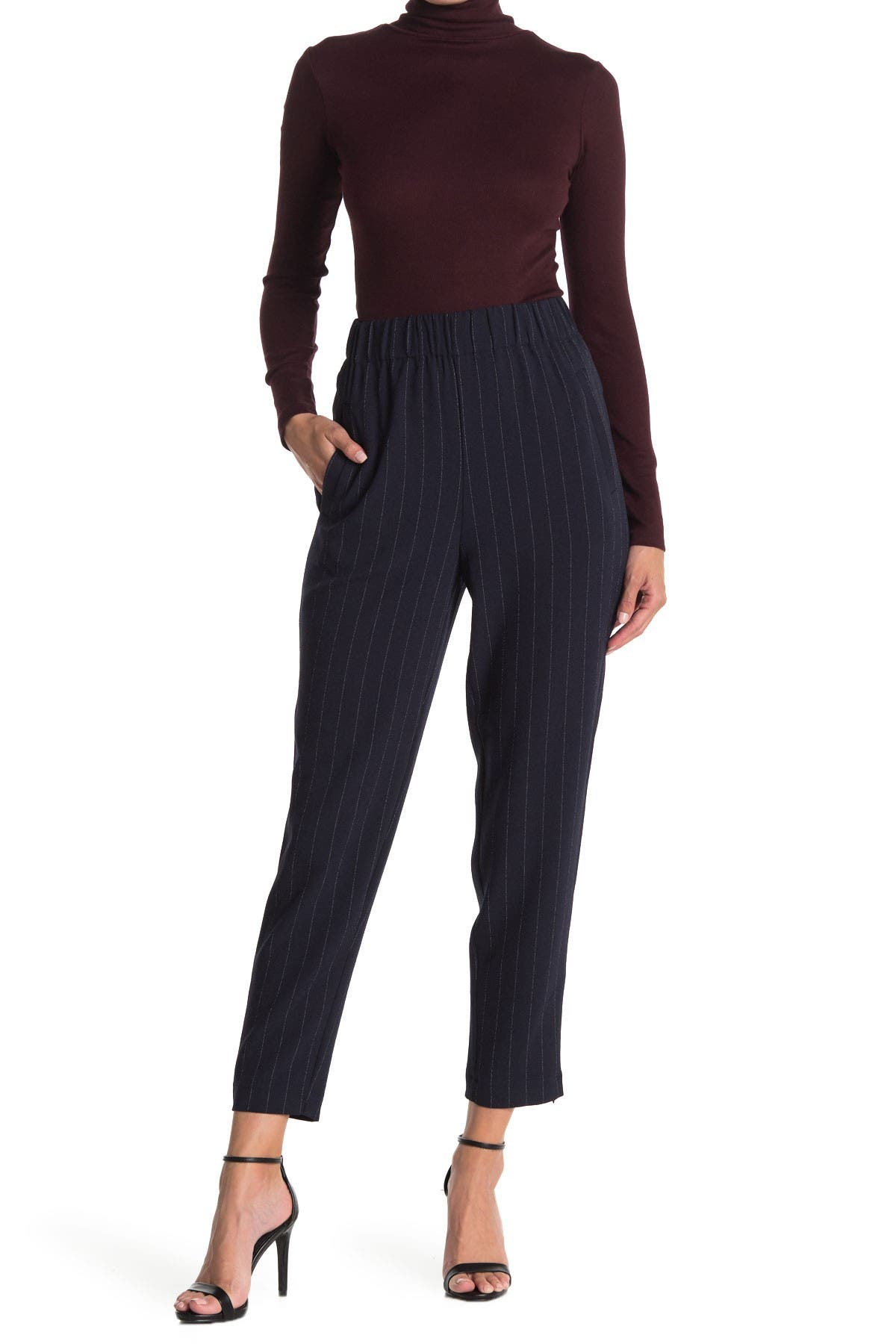 Image of GANNI Heavy High Rise Crepe Pants
