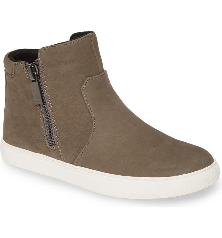 KENNETH COLE NEW YORK 'Kiera' Zip High Top Sneaker, Main, color, CEMENT NUBUCK LEATHER