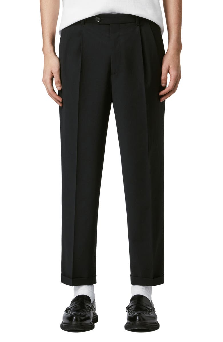 ALLSAINTS Portman Regular Fit Crop Pants, Main, color, 001