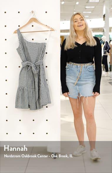 Gingham One-Shoulder Minidress, sales video thumbnail