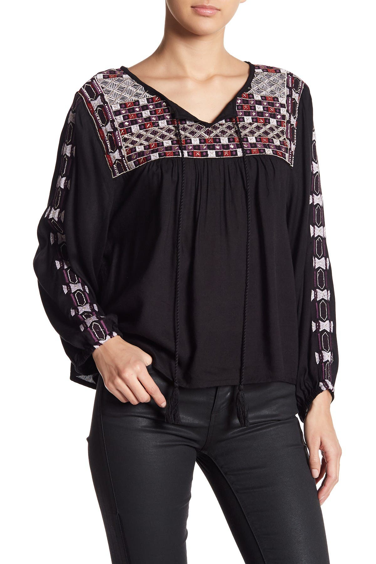 Image of RAGA Diana Embroidered Blouse