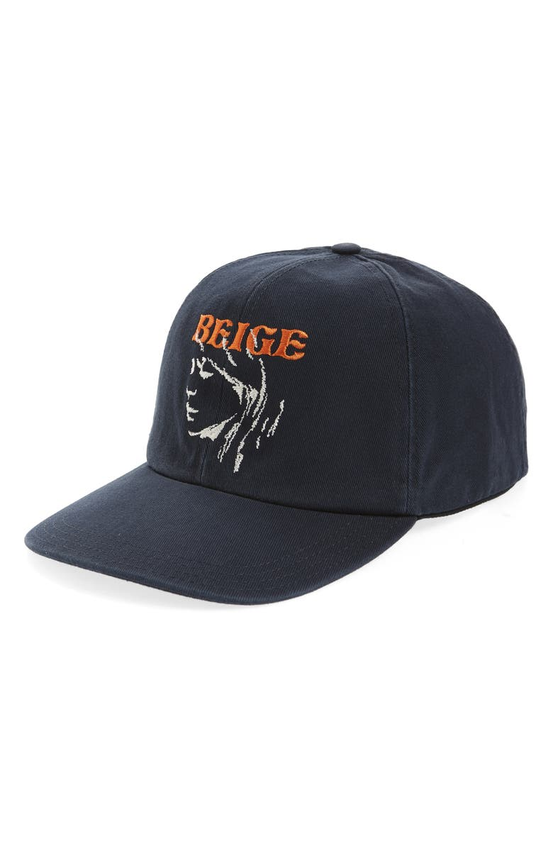 OFF-WHITE Embroidered Woman Baseball Cap, Main, color, DARK BLUE