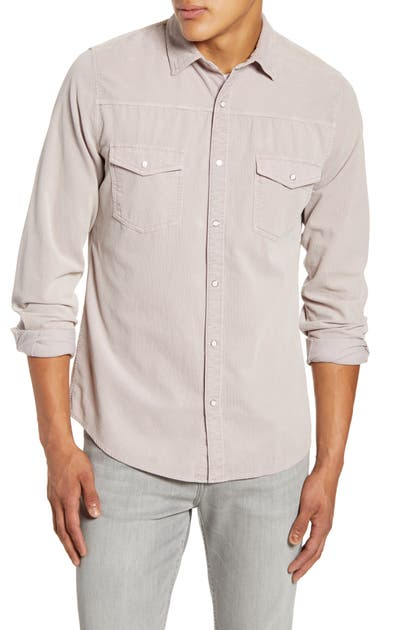 Frame T-shirts SLIM FIT WESTERN SNAP-UP CORDUROY SHIRT