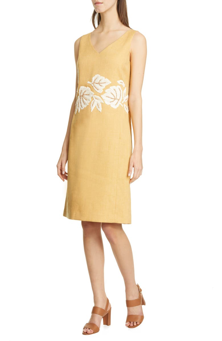 LAFAYETTE 148 NEW YORK Laurie Embellished Shift Dress, Main, color, 832