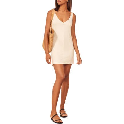 Reformation Karli Ribbed Tank Dress, White