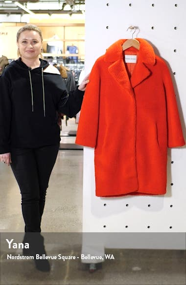 Camille Teddy Faux Fur Cocoon Coat, sales video thumbnail