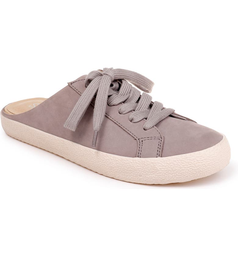 SPLENDID Turner Slide Sneaker, Main, color, LIGHT GREY NUBUCK LEATHER