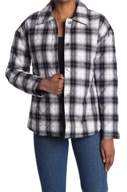 Image of Abound Quilted Plaid Jacket