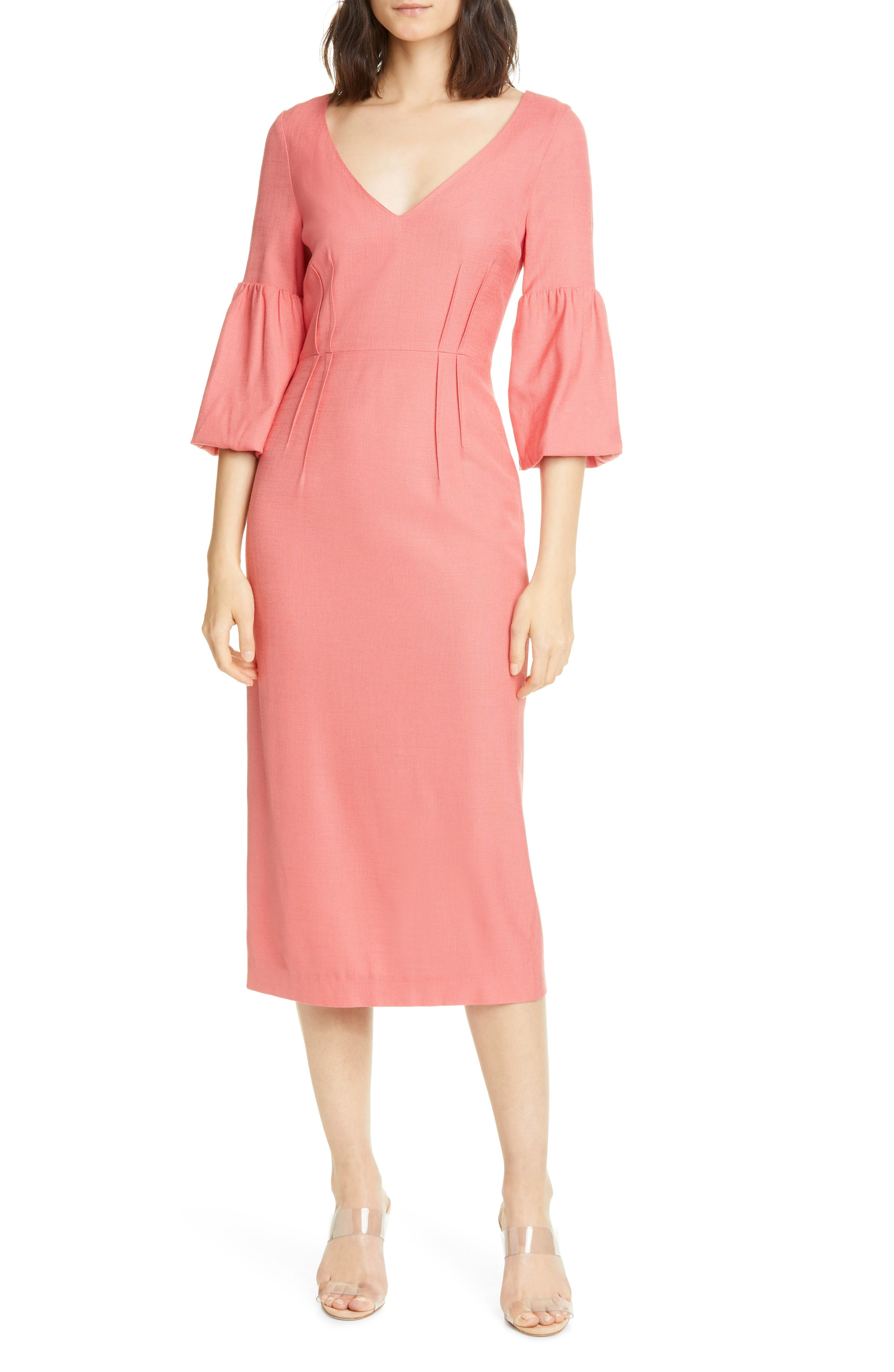 Image of VERONICA BEARD Amalita Midi Dress
