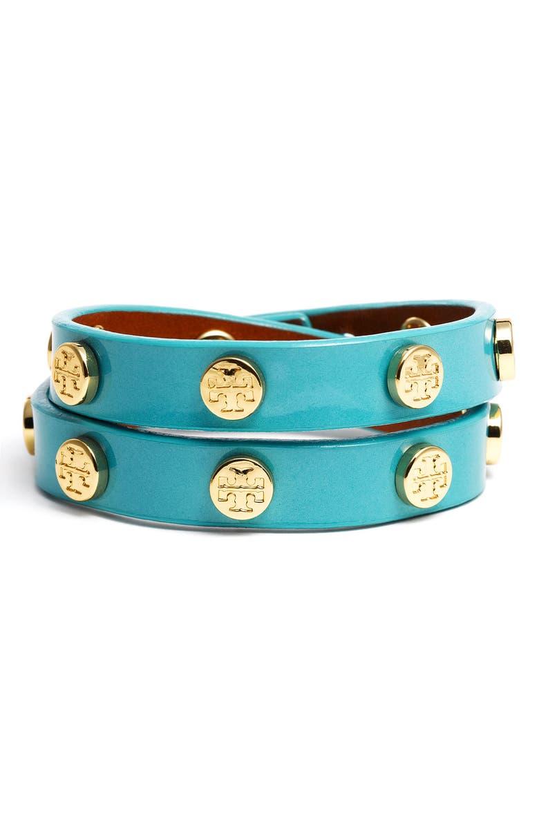 TORY BURCH Double Wrap Bracelet, Main, color, 330