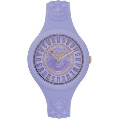Versus Versace Fire Island Silicone Strap Watch,