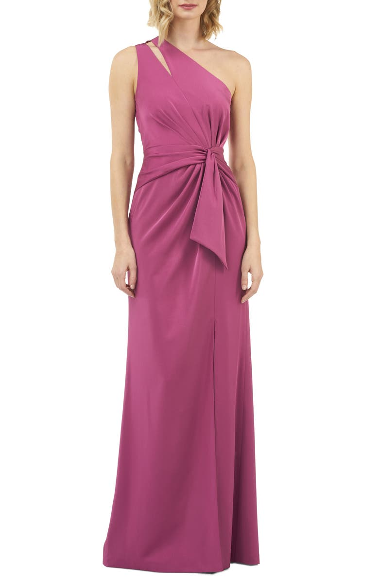 KAY UNGER Emma One-Shoulder Gown, Main, color, 500