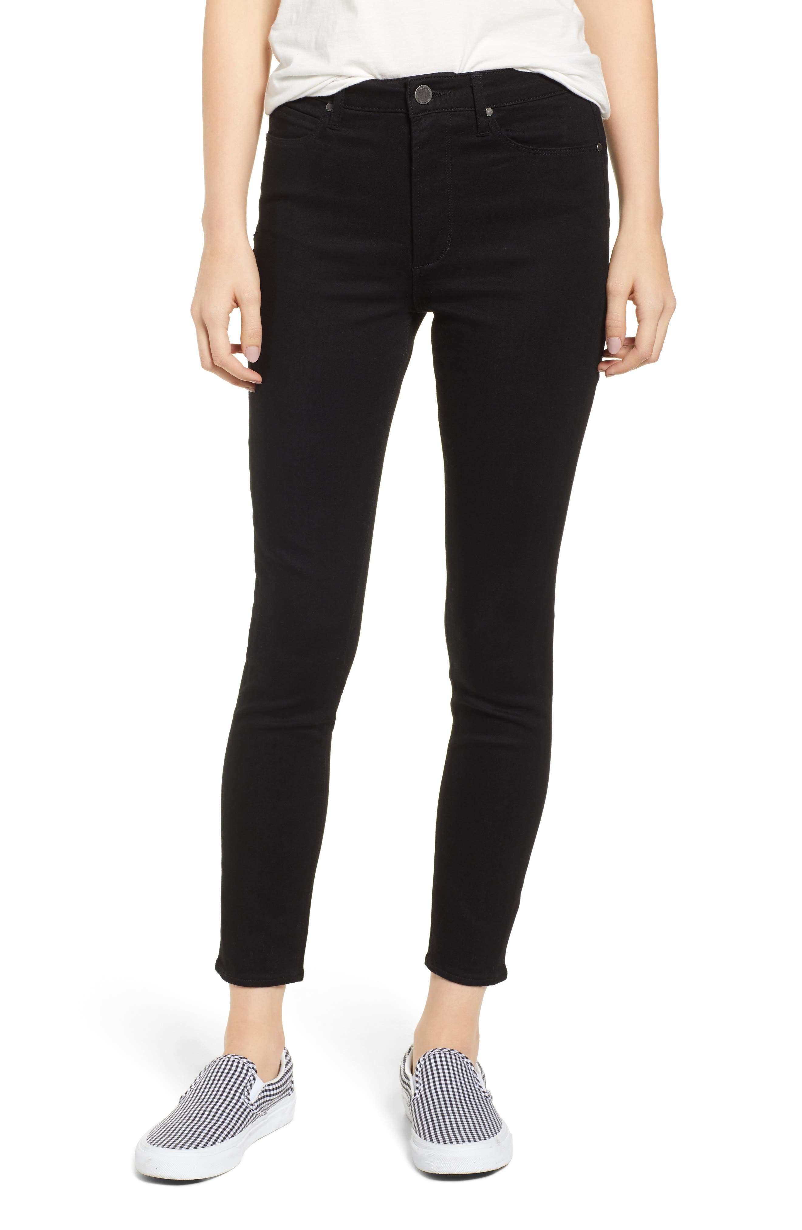 Heather High Waist Skinny Jeans, Main, color, 001