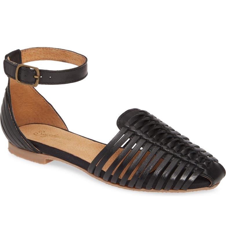 SEYCHELLES Bits N Pieces Sandal, Main, color, BLACK LEATHER