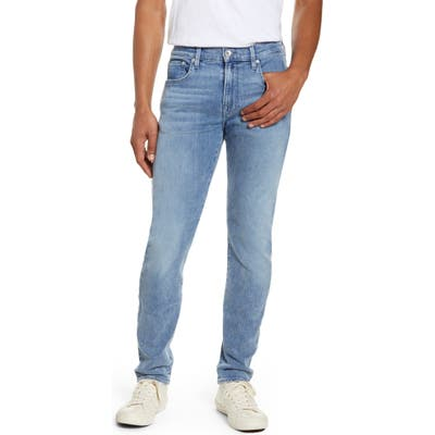 7 For All Mankind Adrien Slim Fit Clean Pocket Skinny Jeans, Blue