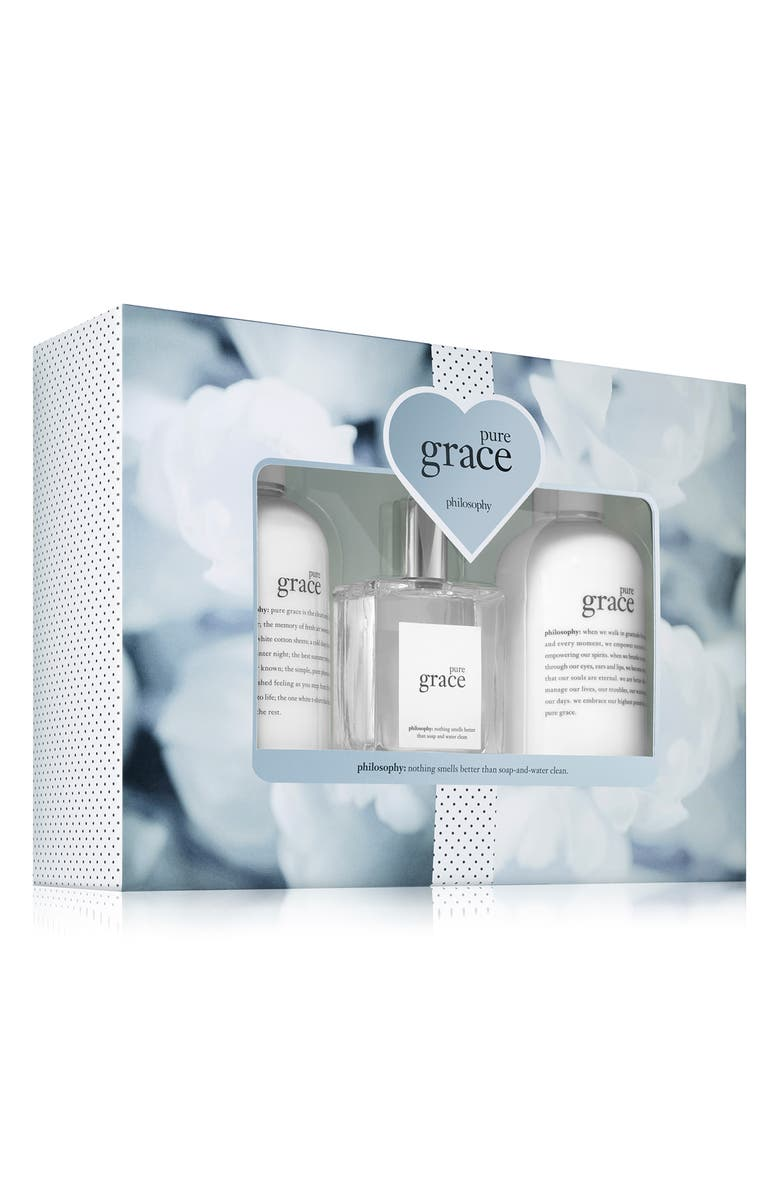 PHILOSOPHY pure grace eau de toilette set, Main, color, 000