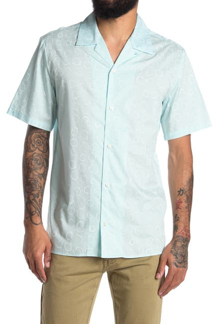 Image of Calvin Klein Short Sleeve Camp Shirt
