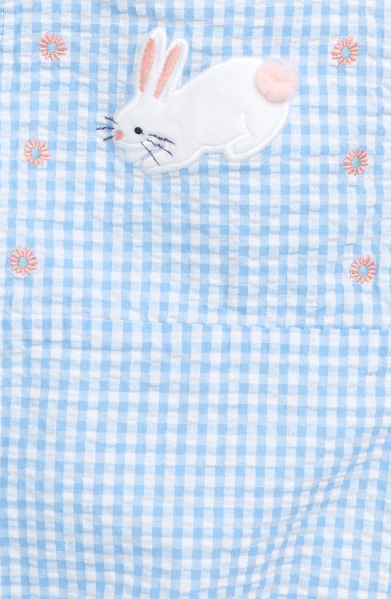 ,                             Gingham Romper & Bodysuit Set,                             Alternate thumbnail 2, color,                             LAKE BLUE/ GINGHAM