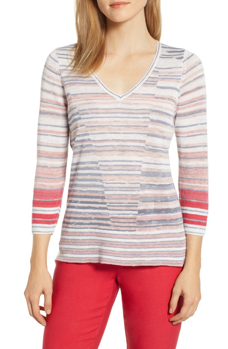 NIC+ZOE Skyline Stripe Top, Main, color, 690