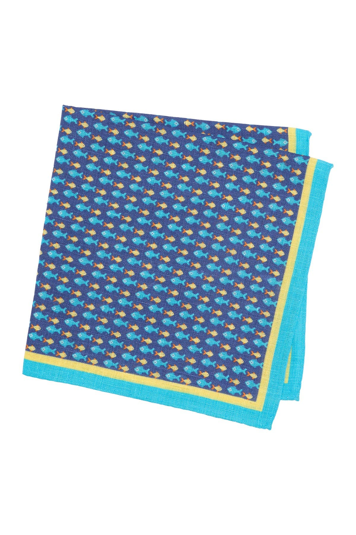 Image of Peter Millar Fish-in-a-Row Pocket Square