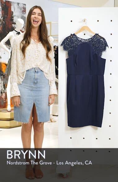 Lace Detail Sheath Dress, sales video thumbnail