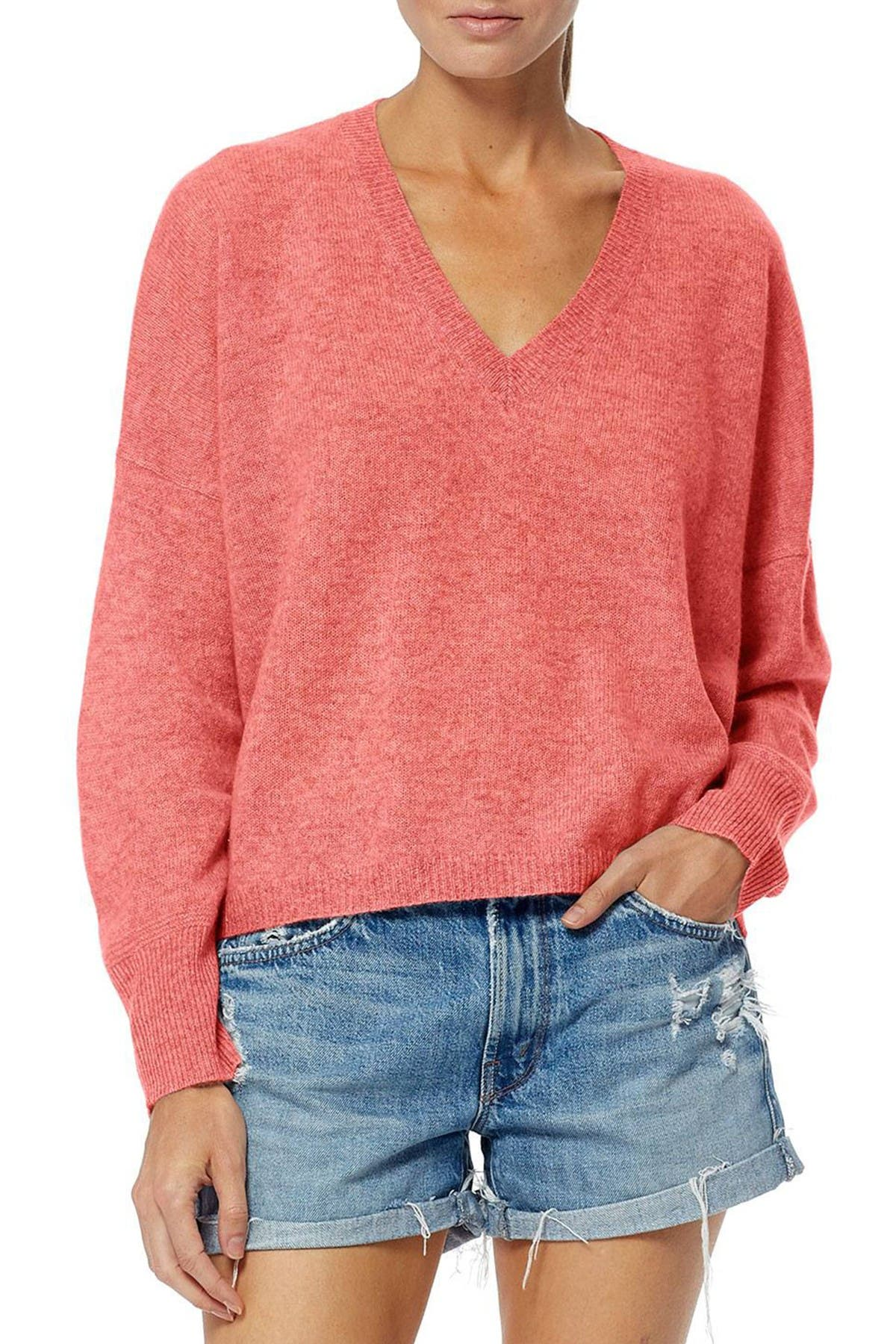 Image of 360 Cashmere Marina Boxy V-Neck Cashmere Sweater