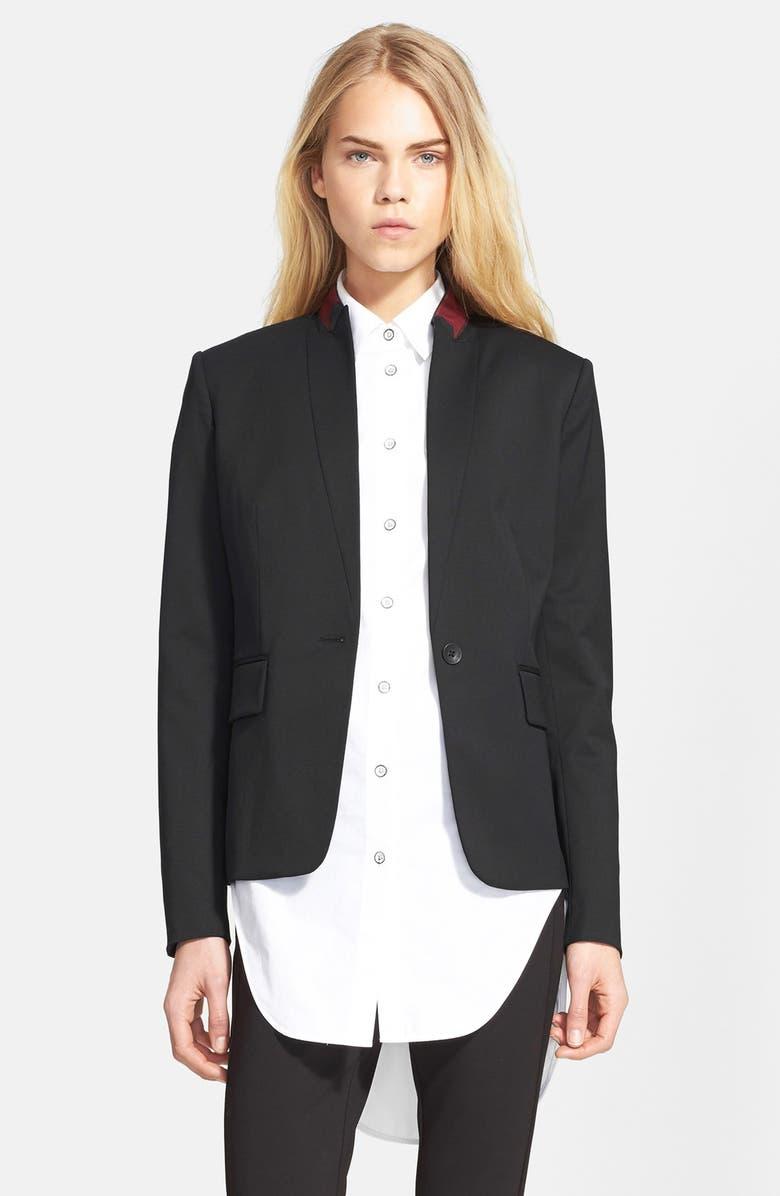 RAG & BONE 'Archer' One-Button Wool Blend Blazer, Main, color, 001