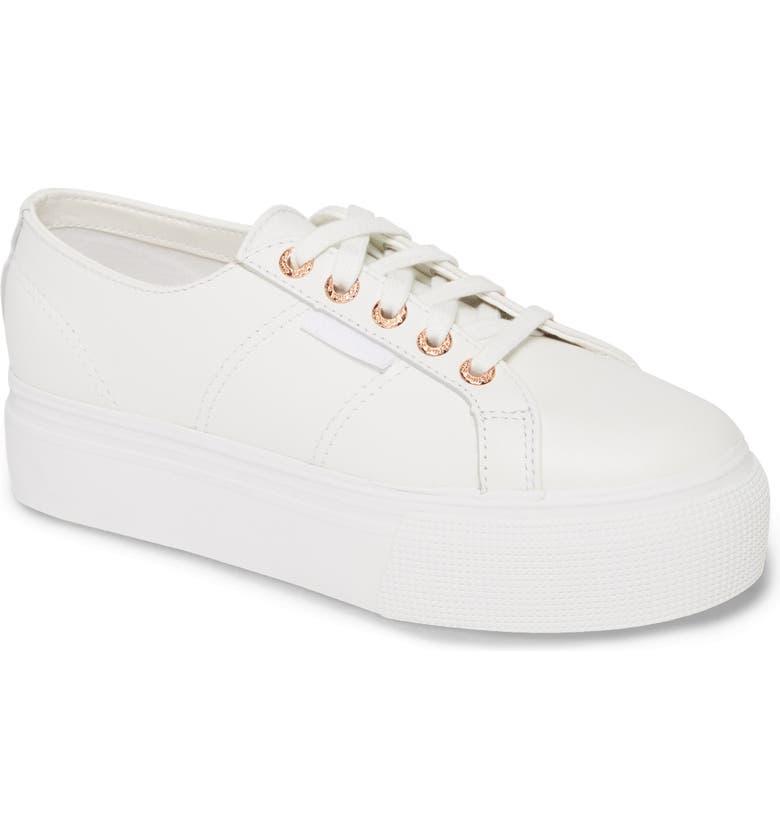 SUPERGA 2790 Platform Sneaker, Main, color, WHITE / ROSE