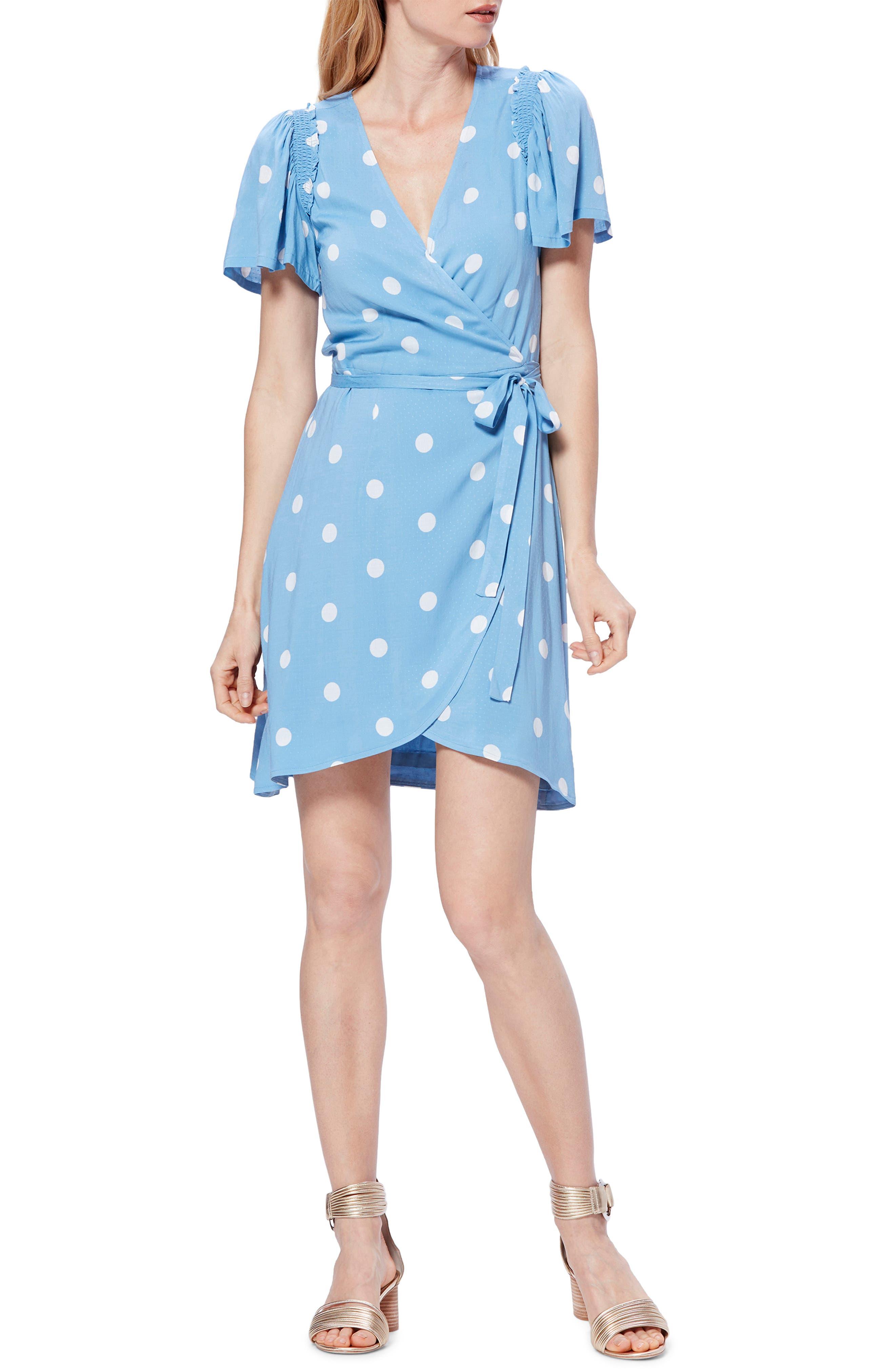 Paige Arlyn Wrap Dress, Blue