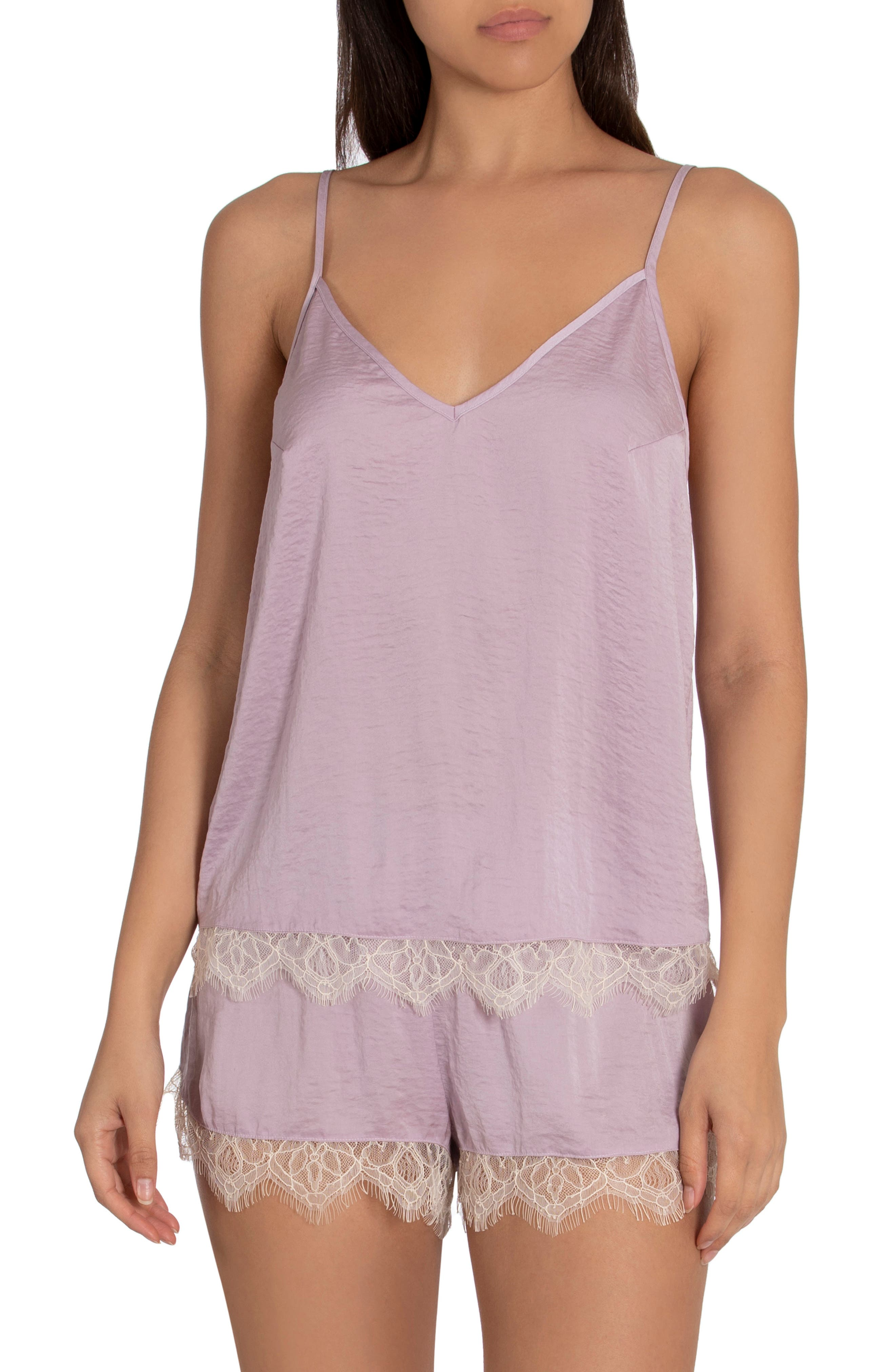Lydia Hammered Satin Shorts Pajamas
