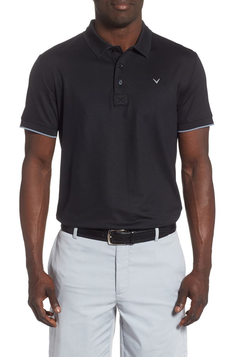 CALLAWAY X Solid Performance Polo, Main, color, CAVIAR
