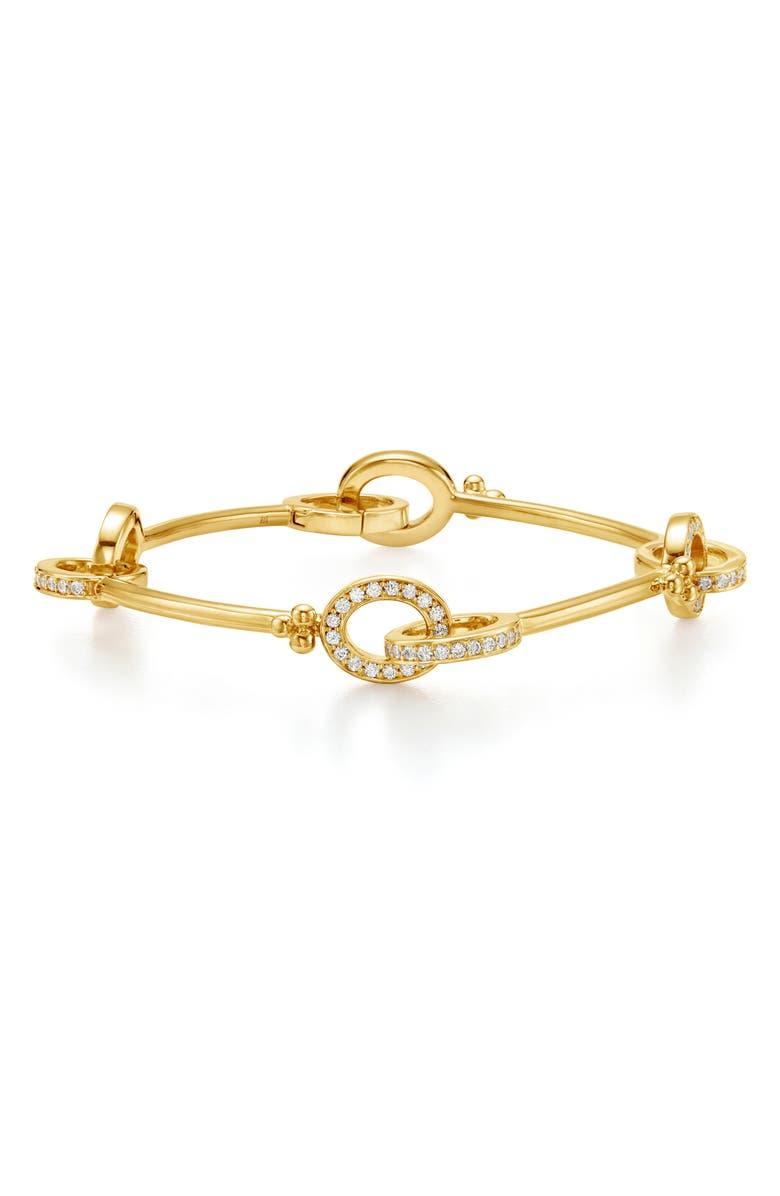 TEMPLE ST. CLAIR Orsina Pavé Diamond Link Bracelet, Main, color, DIAMOND/ YELLOW GOLD