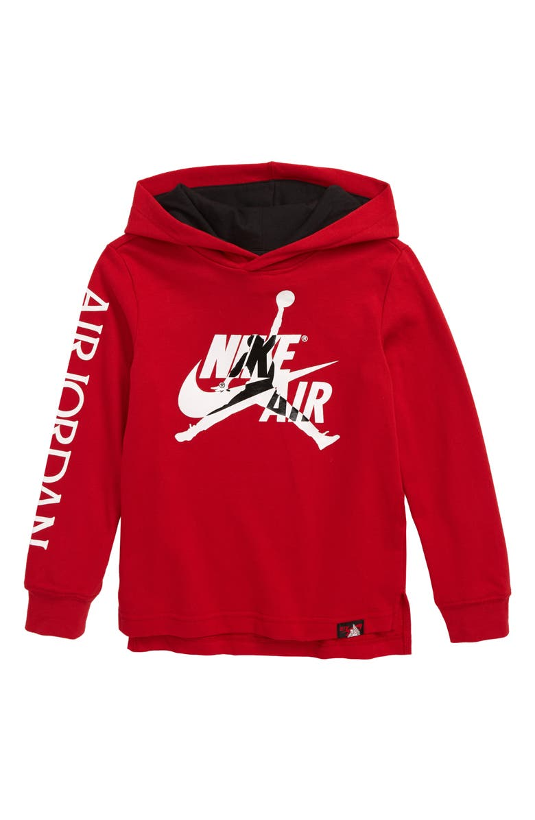 JORDAN Jumpman Classics Hooded Pullover, Main, color, GYM RED