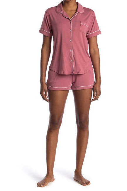 Image of Flora by Flora Nikrooz Annie Shirt & Shorts 2-Piece Pajama Set