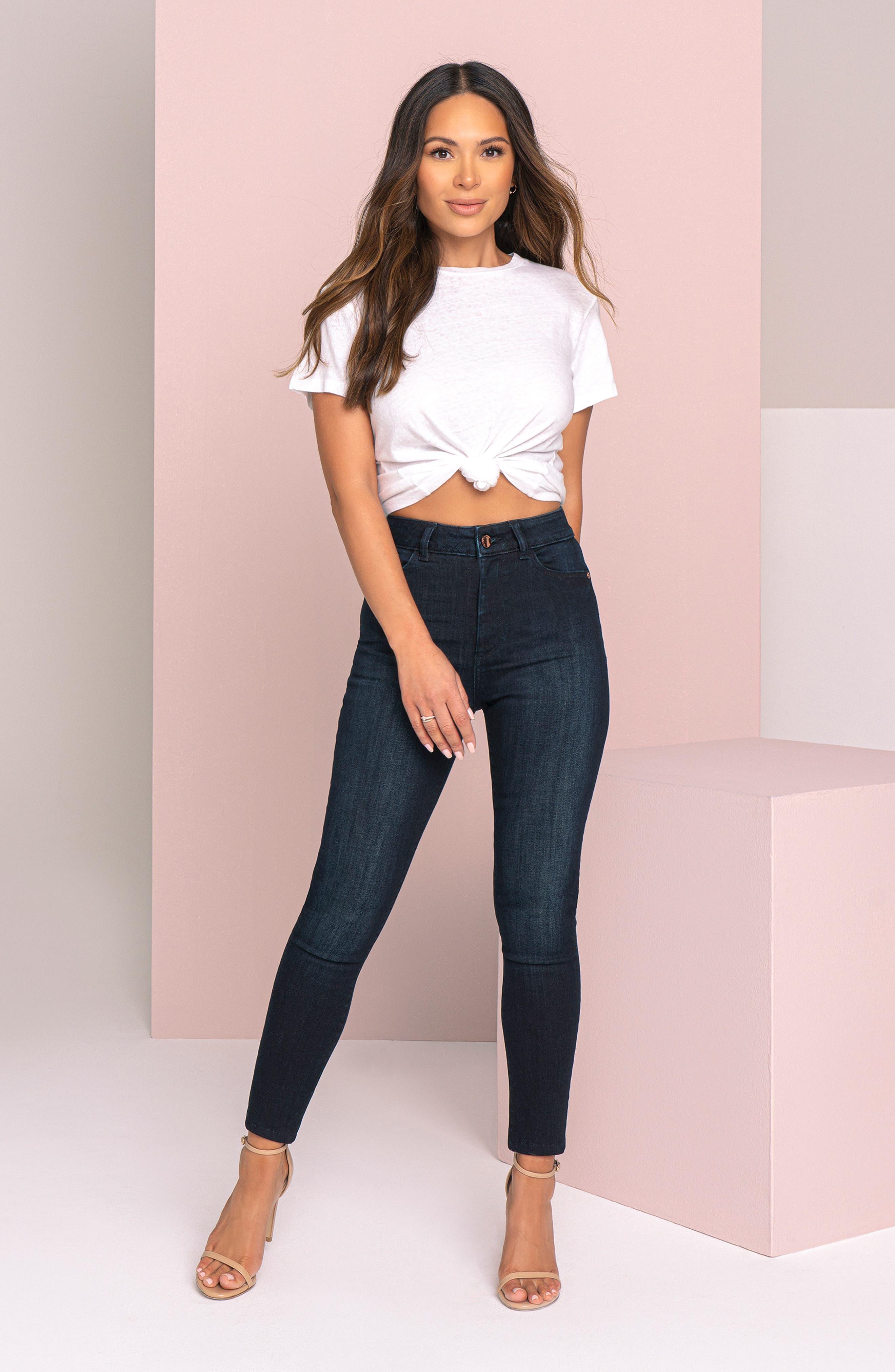 DL1961 x Marianna Hewitt Instasculpt Farrow High Waist Ankle Skinny Jeans (Fresno)
