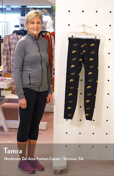 Sportswear Shine Logo Print Leggings, sales video thumbnail