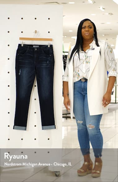 Ab-Solution Cuffed Girlfriend Jeans, sales video thumbnail