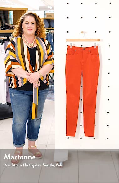 10-Inch Garment Dyed High Waist Skinny Jeans, sales video thumbnail