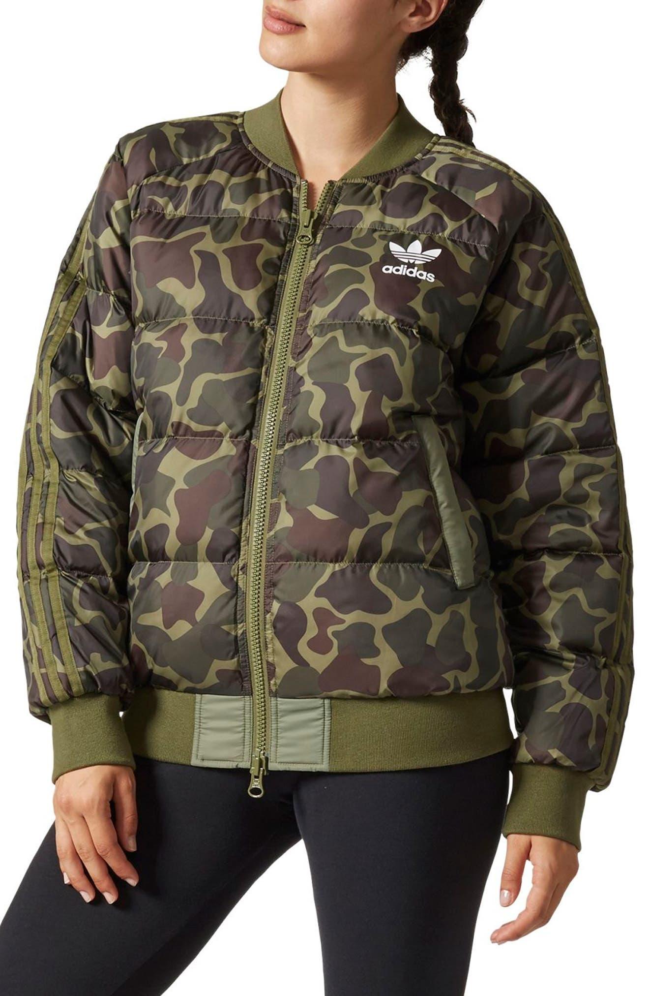 adidas Hu Hiking SST Pure Camo Bomber Jacket NWT