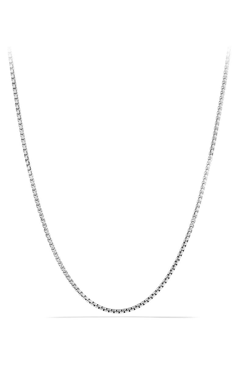 DAVID YURMAN 'Chain' Small Box Chain Necklace, Main, color, SILVER