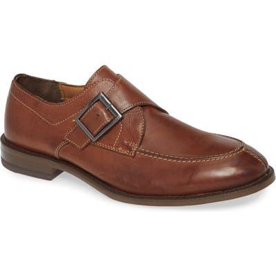 J & m 1850 Jasper Monk Strap Shoe, Brown